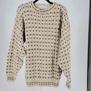 Vintage Oversized Chunky Cable Knit Sweater Sz L